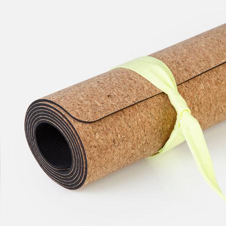 Коврик для йоги из натурального каучука green leaf yoga