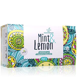 Зеленый чай с мятой и лимоном every mint&lemon greenfield garden mint зеленый листовой чай с мятой 250 г
