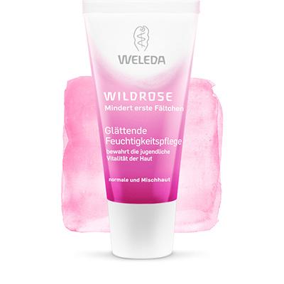 Розовый разглаживающий увлажняющий крем weleda (Weleda)