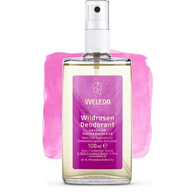 Розовый дезодорант weleda 8808