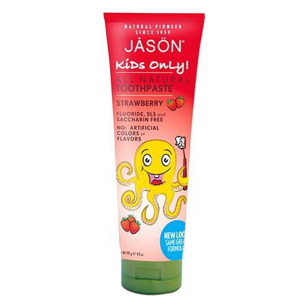 Детская зубная паста клубничная jason