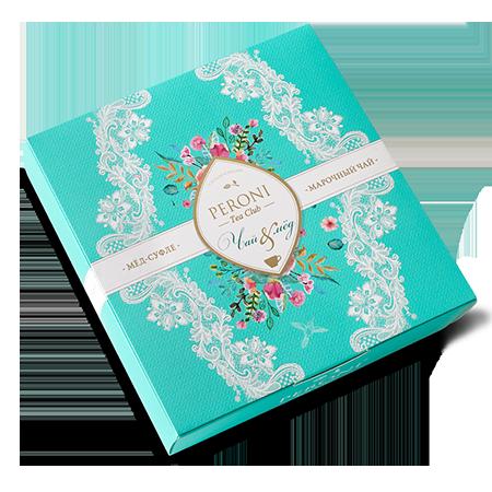 Подарочный набор чай&мёд молочный улун peroni