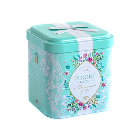 Чай байховый листовой типа оолонг китайский tea funny молочный улун (жестяная банка) peroni