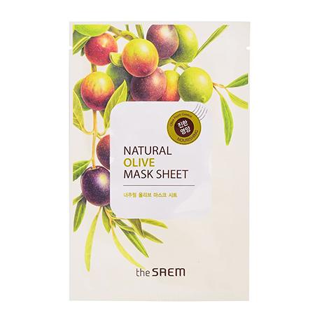 Маска тканевая с экстрактом оливы natural olive mask sheet the saem the saem natural olive mask sheet объем 21 мл