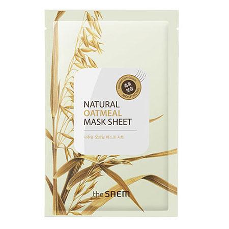 Маска тканевая с экстрактом овсянки natural oatmeal mask sheet the saem