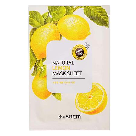 Маска тканевая с экстрактом лимона natural lemon mask sheet the saem