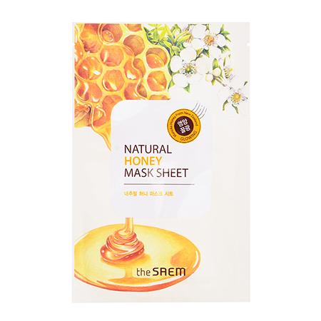 Маска тканевая с экстрактом меда natural honey mask sheet the saem