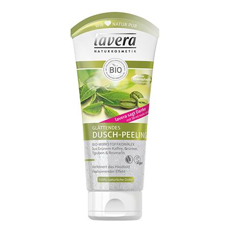 Разглаживающий душ пилинг для тела lavera мягкий био тоник для лица lavera