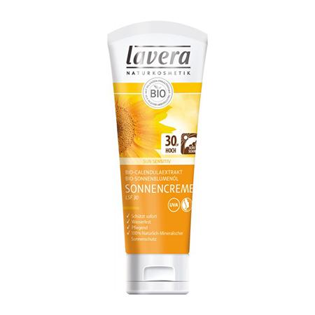Солнцезащитный крем spf 30 для чувствительной кожи lavera мягкий био тоник для лица lavera