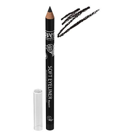 Мягкий карандаш для глаз черный lavera 3237