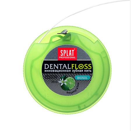 Объемная зубная нить с бергамотом и лаймом splat