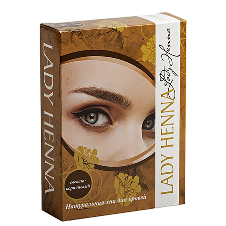 Натуральная хна для бровей светло-коричневая lady henna ааша bio henna premium хна для бровей коричневая