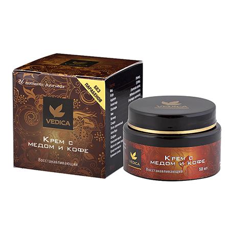 Крем для лица восстанавливающий с медом и кофе veda vedica ааша тальк veda vedica