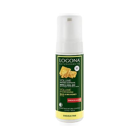 Пена объем для укладки волос с пивом и медом logona пена для бритья man logona