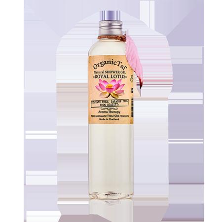 Натуральный гель для душа «королевский лотос» organic tai organic tai массажное масло для лица жасмин жожоба и сладкий миндаль 120 мл