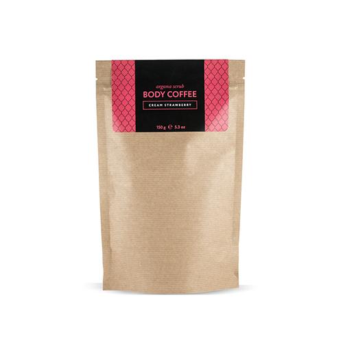Скраб кофейный клубника со сливками 150 г huilargan скрабы huilargan аргановый скраб кофе huilargan клубника со сливками 30 гр