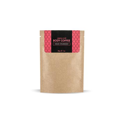 Скраб кофейный клубника со сливками 30 г huilargan скрабы huilargan аргановый скраб кофе huilargan клубника со сливками 30 гр