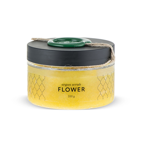 Аргановый скраб солевой цветочный huilargan