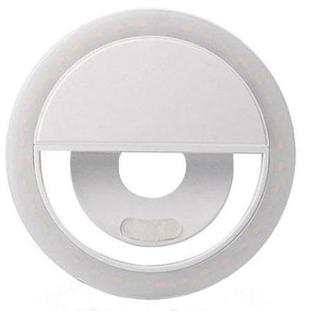 Светодиодное кольцо для селфи белое (зарядка через usb) selfie ring light