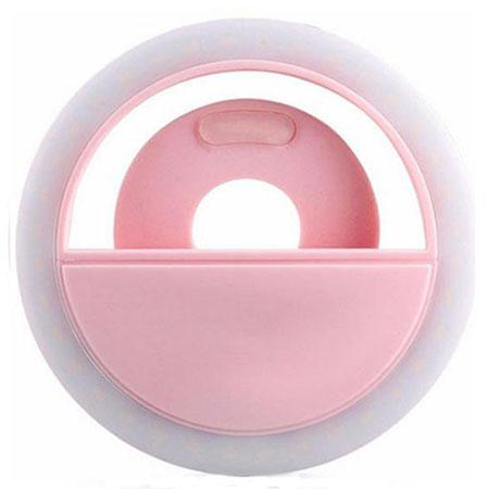 Светодиодное кольцо для селфи розовое (зарядка через usb) selfie ring light