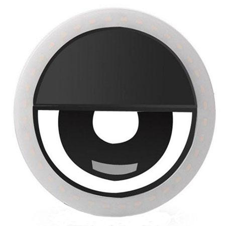 Светодиодное кольцо для селфи черное (зарядка через usb) selfie ring light