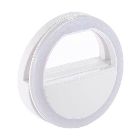Светодиодное кольцо для селфи белое (зарядка от батареек) selfie ring light