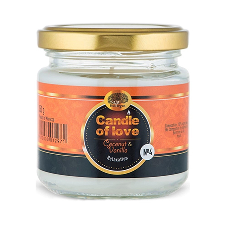 Арома свеча эко №4 (кокос и ваниль) huilargan