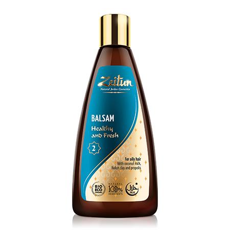 Бальзам для волос здоровье и свежесть для жирных волос №2 зейтун