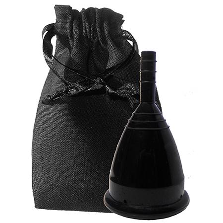 Черная менструальная чаша в мешочке (размер l) cuplee