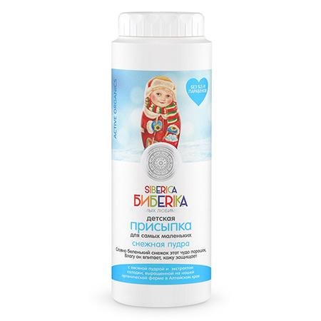 Детская присыпка «снежная пудра» овсяная пудра, экстракт солодки и экстракт шалфея siberica бибеrika natura siberica