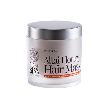 Питательная алтайская медовая маска для окрашенных волос bania detox natura siberica