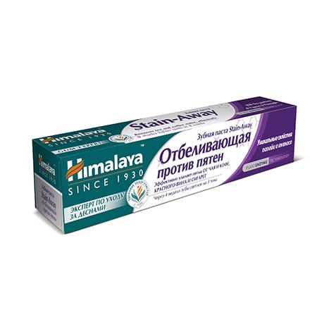 Зубная паста stain-away отбеливающая himalaya herbals