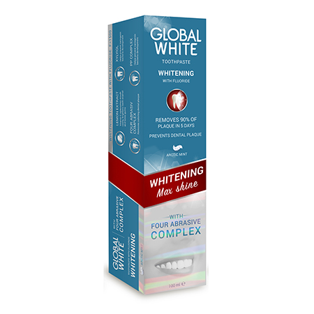 Отбеливающая зубная паста max shine 30 мл global white