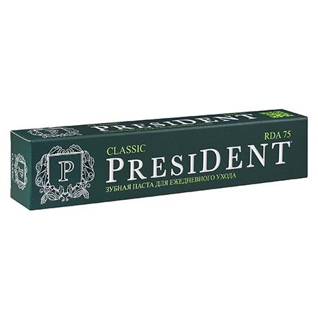 Зубная паста классик ежедневная 75 мл president пленка тонировочная president 35% 0 75 м х 3 м