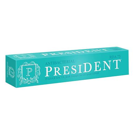 Зубная паста-гель antibacterial 75 мл president пленка тонировочная president 35% 0 75 м х 3 м