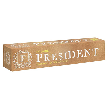 Натуральная зубная паста eco-bio 75 мл president пленка тонировочная president 10% 0 75 м х 3 м
