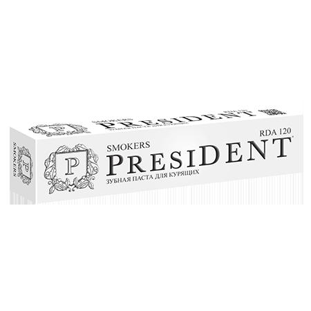 Отбеливающая зубная паста для курящих smokers 75 мл president president зубная щётка president smokers 31065 1 шт