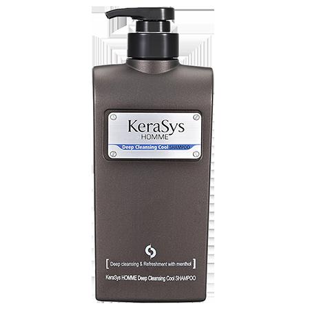 Освежающий шампунь для мужчин homme deep cleansing cool kerasys