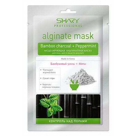 Профессиональная альгинатная маска бамбуковый уголь + мята shary shary маска моделирующая альгинатная shary professionsl бамбуковый уголь мята professional 28 гр