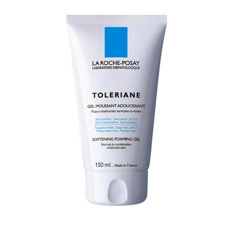 Смягчающий пенящийся гель для очищения кожи  снятия макияжа toleriane la roche posay