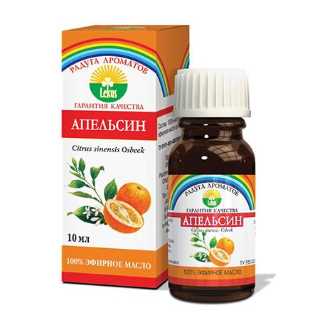 Эфирное масло апельсин 10 мл lekus