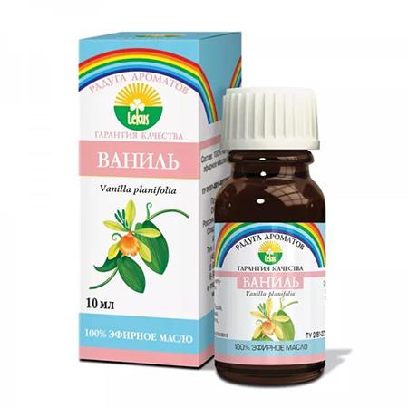 Эфирное масло ваниль 10 мл lekus растительное масло расторопша 50 мл lekus