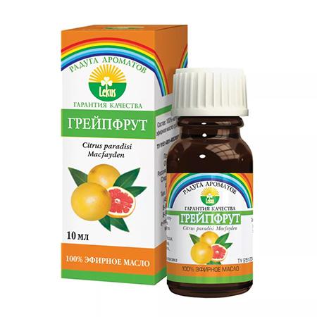 Эфирное масло грейпфрут 10 мл lekus