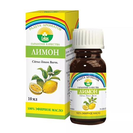 Эфирное масло лимон 10 мл lekus
