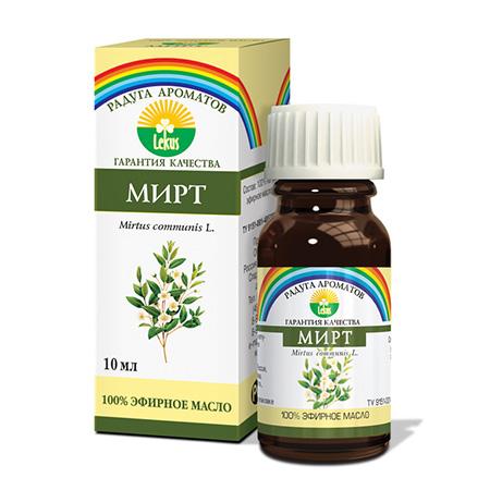 Эфирное масло мирт 10 мл lekus растительное масло расторопша 50 мл lekus