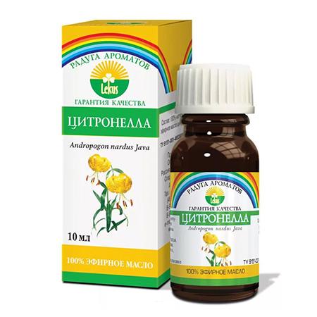 Эфирное масло цитронелла 10 мл lekus растительное масло расторопша 50 мл lekus