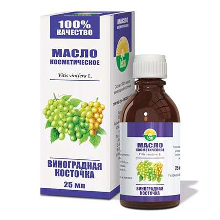 Косметическое масло виноградная косточка lekus