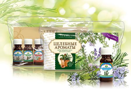 Набор эфирных масел целебные ароматы lekus