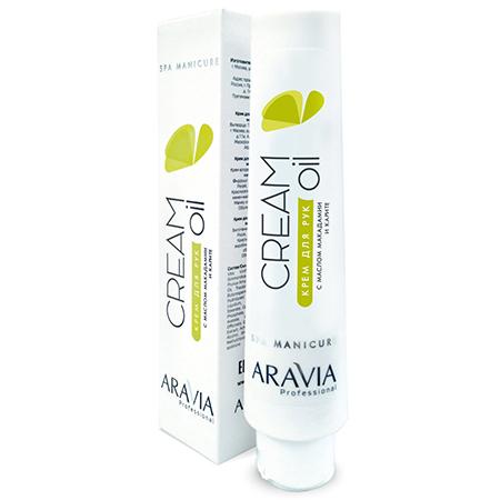 Купить Крем для рук с маслом макадамии и карите cream-oil aravia professional