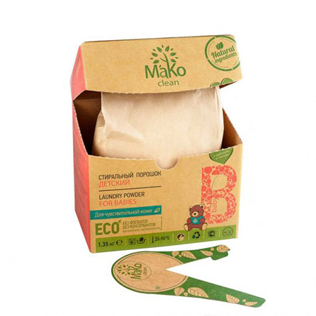 Порошок стиральный baby 650 г mako clean